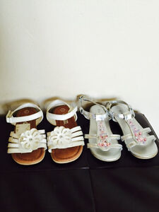 Two pairs - Size 7 - Girl's Sandals