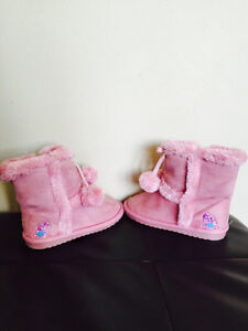 Girl's Pink Furry Abby Cadabby Boots - Size 7