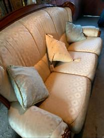 Three Seater Golden Italian Sofa