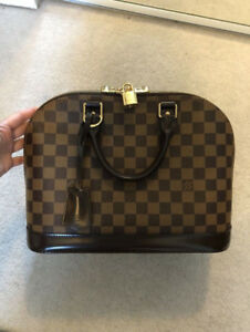 Lv Louis Vuitton Alma Pm Damier Ebene With Dust Bag And Box