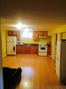 Available June 1st  three bedroom basement apt, five minute Mun