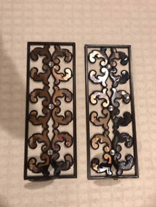 Wall Candle Holders / Decor (x2)