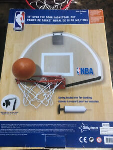 "18"" over the door basketball set"