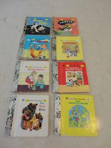 """Set of 8 Vintage 60-80's """"Little Golden Books"""" Set Great Shape"""