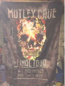 "Motley Crue the Final Tour Rock Flag 60"" x 40"""