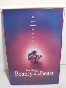 Beauty and the Beast 1991 Marquee Poster - Very Rare Find!