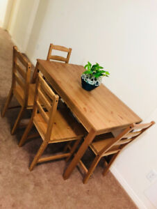 Dining Table - 1 Table and 4 chair (unused)