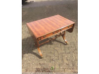 Antique Regency style Lure End Yew Sofa Table