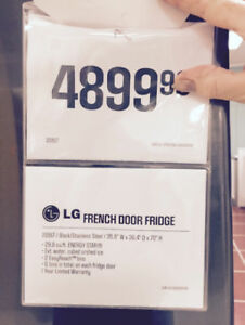 LG  Refrigerator-fridge-Fench doors-never used..