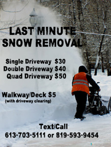 snow removal quotes