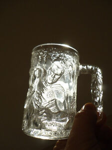 Three Glass Sculpted 3D Collectible Mugs - Batman McDonalds Mugs Kitchener / Waterloo Kitchener Area image 3
