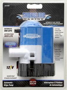 SHORELINE-MARINE-AUTOMATIC-FLOAT-SWITCH-BILGE-PUMP-800-GPH-3028-L-Hr
