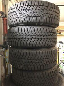 OEM 16'' BMW 205/55R16 wheels on Continental Winters!
