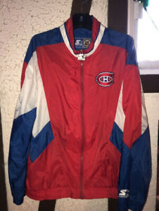 Canadiens Jacket Signed by Jean Beliveau and Henri Richard