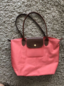 LE PLIAGE Longchamp tote S with long handle | Nylon Pink