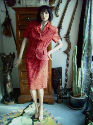 Kostüm Gr. 36 Rot Schwarz  Tigerlook klasse Modell einfach nur sagenhaft (Einfachste Kostüm)