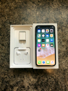 Factory Unlocked Space Grey iPhone X 64GB With Warranty + Case