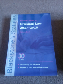 Blackstone's criminal law statute book