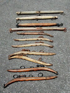 11 ANTIQUE HORSE YOKES, all for $80
