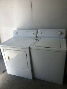 Kenmore white top load washer electric dryer set