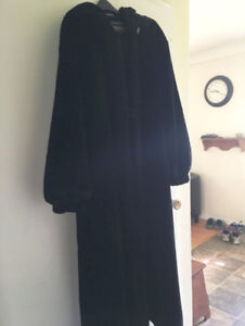 Faux Fur Coat Black great for winter or Christmas