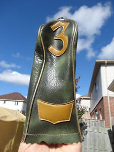 Vintage 1960's or Older Vinyl faux leather Club Head cover