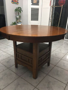 Used Dalton Oak Dining Table Chairs 5pcs Set 1 5years New