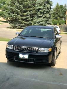 2004 Audi S4 Quattro AWD, 4.L v8, 6 speed,loaded,saftied,low kms