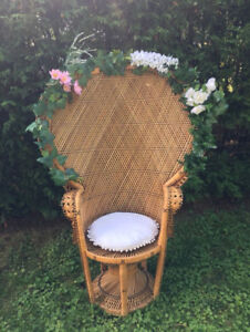 Chaise Baby Shower Florale VINTAGE