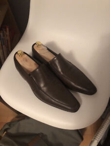 Men's Italian Harry Rosen Designer Brown Luxury Loafers
