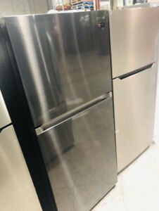 "SAMSUNG RT18M6215SG 30"" Black Stainless Fridge **NEW OPEN BOX**"