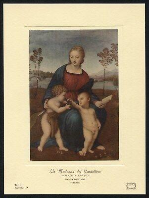 Uffizi Gallery - Raphael MADONNA OF THE GOLDFINCH 1969 vintage Uffizi Gallery art card