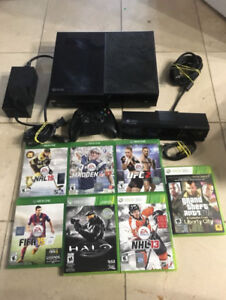 Xbox one with Kinect and some   games