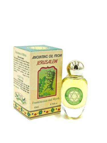 Frankincense and Myrrh Anointing Oil From Holy Land Jerusalem Blessed Christian