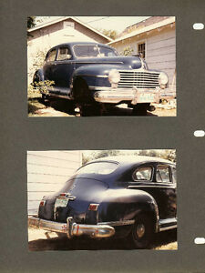 """One-Owner"", 1942 Dodge Sedan, Model D22C  with fluid drive."