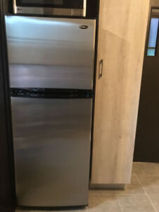 NEW STAINLESS STEEL FRIDGE FOR SALE 10 cu.ft.