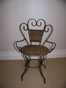 Old Fashioned Wicker and Metal Doll Chair Regina Regina Area image 1