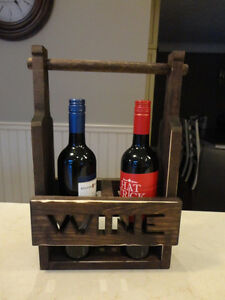 Solid Wood Dual Wine Bottle Decorative Holder - Perfect Shape Kitchener / Waterloo Kitchener Area image 2