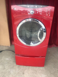 Ge Red Front Load 27 inch Dryer For Sale