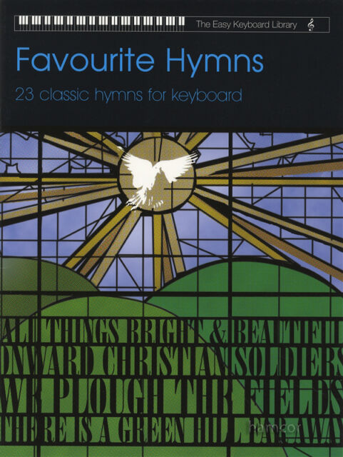 Favourite Hymns The Easy Keyboard Library Sheet Music Book