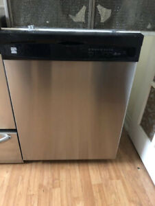 "Kenmore 24"" under counter dishwasher stainless steel"