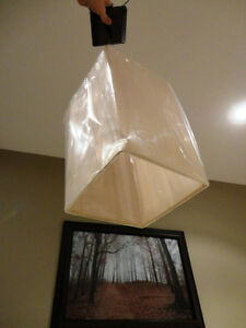 Brand New Light Brown Rectangle Shade Light Fixture Kitchener / Waterloo Kitchener Area image 4