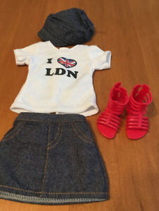 "18"" doll journey girls London doll outfit fits American girl"