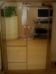 mirrored armoire/hutch