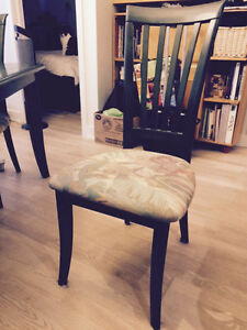 Dining table 4 chairs and matching storage unit West Island Greater Montréal image 3