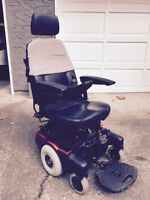 Jolly red electric wheelchair