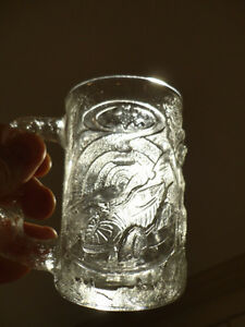 Three Glass Sculpted 3D Collectible Mugs - Batman McDonalds Mugs Kitchener / Waterloo Kitchener Area image 2