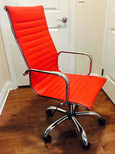 Brand New High-Back Red Leather Executive Office Chair