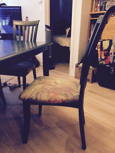 Dining table 4 chairs and matching storage unit West Island Greater Montréal image 2