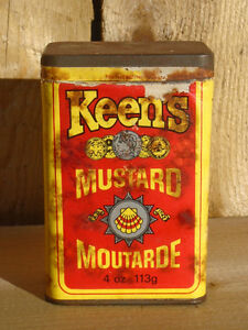 Vintage Keen's Mustard Tin w/ Paper Label
